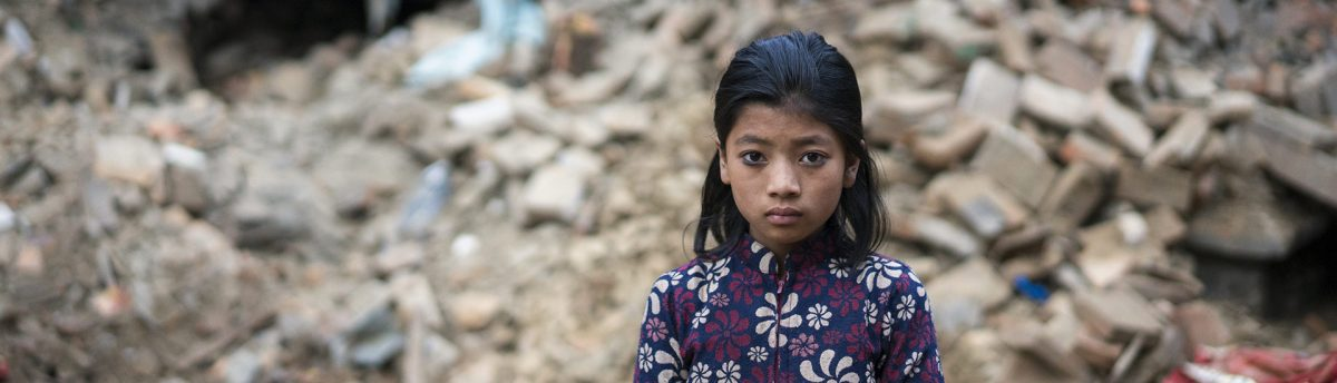 Girl after disaster