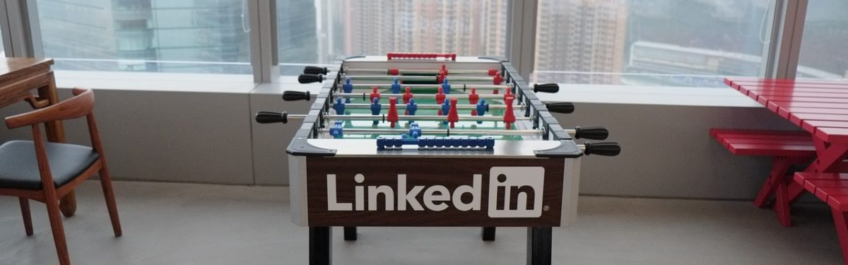 Foosball with LinkedIn logo
